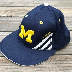 Adidas Michigan Men Hat Baseball Sport Navy Blue